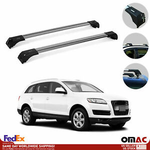 Roof Rack Cross Bars Luggage Carrier Silver Set 2 Pcs For Audi Q7 4l 2007 2015