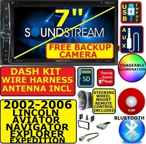 02 06 Ford Expedition Explorer Lincoln Aviator Navigator Bluetooth Cd dvd Sd Aux