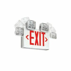 Emergi lite Single double Face Led Combo Exit Sign Self Test Red Letters