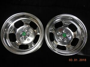 Just Polished 14x9 Slot Mag Wheels Ford Dodge Mags Mopar Chevelle 442 Gto Ss R t