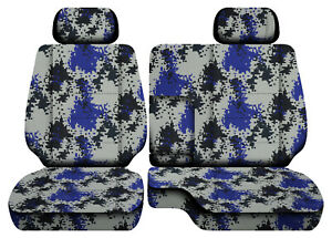 Digital Camo Blue Car Seat Covers Fits 95 00toyota Tacoma Front Bench 60 40 2hr