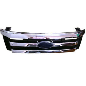 For Ford Ranger T6 2012 2014 Original Front Bumper Chrome Grill Grilles
