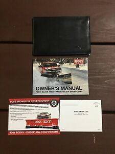 2017 Boss Snowplow V Blade Straight Blade Owners Manual With Case