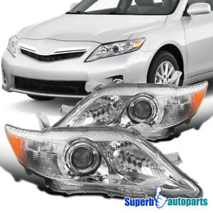 For 2010 2011 Toyota Camry Projector Headlights Head Lamps