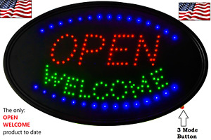 Led 3 Mode Neon Sign Open Business Welcome the Best Sign Display 23 X 14