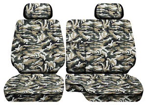 Designcovers Military Cam Beige Fits 95 2000 Toyota Tacoma Front Bench 60 40 2hr