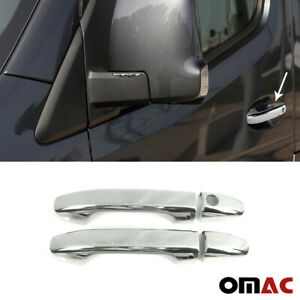 Fits Mercedes Sprinter 2019 2020 Chrome Side Door Handle Cover 1 Key Hole 4 Pcs