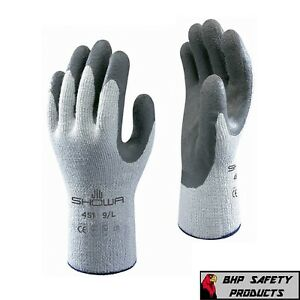 Showa Atlas 451 Therma Fit Insulated Winter Work Gloves Rubber Coating 6 Pair