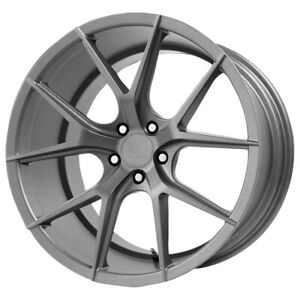 Staggered Verde Axis Front 22x9 rear 22x10 5 5x114 3 20mm Graphite Wheels Rims