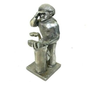 Vintage Taylormaid Originals Metal Golfer Statue 7 Golf Decor Art