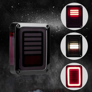 Tail Lights Led Brake Turn Signal Smoke For Jeep Wrangler Jk 07 17 Dynamic New K