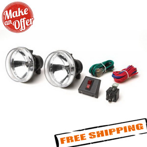 Rampage 5083059 Universal 4 Round Clear Lens Fog Lamp Kit For Recovery Bumper