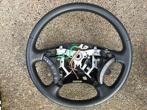 2005 2011 Toyota Tacoma Factory Oem Black Leather Steering Wheel With Controls