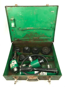 Greenlee 7306 Hydraulic 1 2 2 1 4 Knock out Punch Driver Set 767 W Extra 746