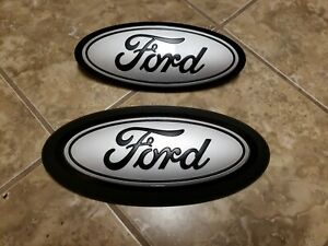 2018 20 Ford F150 Front Rear Emblem Custom Matte Black And Ingot With Surround