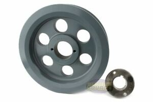 Cast Iron 7 75 2 Groove Dual Belt B Section 5l Pulley W 1 3 8 Sheave Bushing