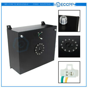 Eccpp 20 Gallon Aluminum Drag Racing Fuel Cell Tank Level Sender Black Diesel