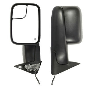 1pair Power Heated Towing Mirrors Glass For Dodge Ram 1500 2500 3500 1994 2001