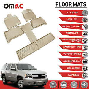 Floor Mat Liner 3d Molded Tan Fits Chevrolet Tahoe 2007 2014