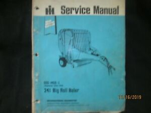 Ih International Harvester 241 Big Roll Baler Service Repair Manual Original Oem