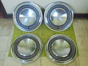 64 65 Lincoln Hub Caps 15 Set Of 4 Wheel Covers Hubcaps 1964 1965