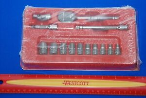 New Snap on 14 Piece 1 4 Drive 6 point Sae General Service Socket Set 114atmp