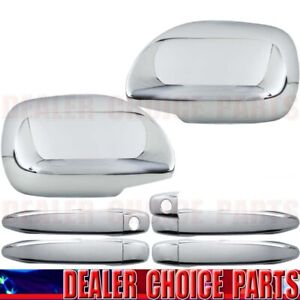 For 2003 2009 Toyota 4runner Chrome Door Handle Covers W o Smart mirror Overlays