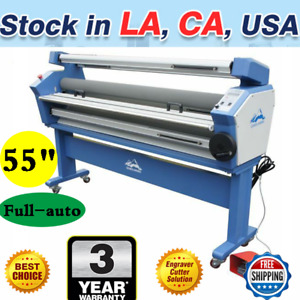 Us 55 Full auto Wide Format Cold Laminator Upgraded Laminating With Heat Assist