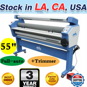 Us Upgraded 55 Full auto Wide Format Cold Laminator Laminating With Trimmers