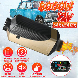 8kw 12v Lcd Thermostat Diesel Air Heater Remote Control For Boat Truck Trailer