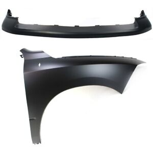 Bumper Cover Fender For 2009 2010 Dodge Ram 1500 Front Right Kit