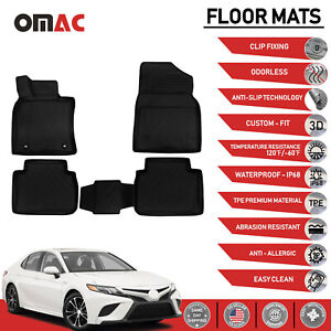 Floor Mats Liner 3d Molded Black Set Fits Toyota Camry 2018 2020