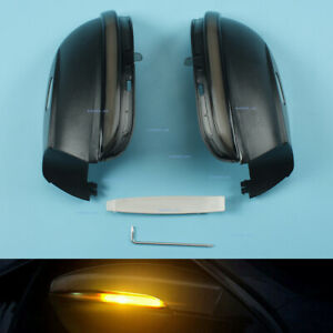 2x Dynamic Turn Signal Light Side Mirror For Vw Passat B7 Scirocco Jetta Mk6 Eos