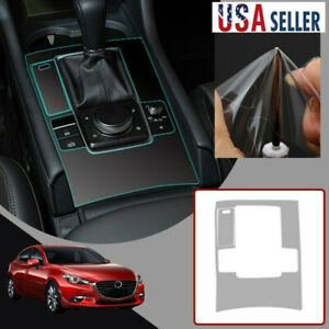 Interior Console Gear Shift Panel Tpu Protective Film For Mazda 3 2019 2020