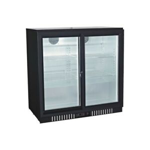 Counter Height Double Sliding Door Back Bar Cooler Beverage Fridge 36 Wide