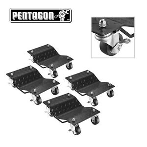 Pentagon Tool Premium 4 Pack Car Tire Dolly Tire Skates Heavy Duty
