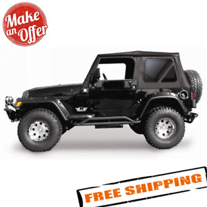 Rampage 68835 Complete Soft Top With Frame Hardware For 97 06 Jeep Wrangler Tj