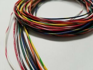 22 Awg Gauge Stranded Hook Up Wire Kit 5 Ft Ea 8 Color W Stripe Ul1007 300 Volt