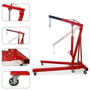 2 Ton Red Color Cherry Picker Engine Hoist Lift Crane 4 000 Lbs
