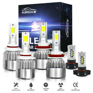 White Led Headlight Fog Light Bulbs For Chevy Silverado 1500 2500 2007 2015