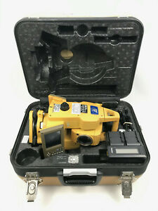 Topcon Gts 723 Total Station In Hard Case W Battery Charger Needs Calibration