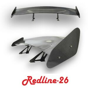Carbon Fiber Gt Wing Universal Fit Rear Trunk Deck Spoiler 61 8 L 10 H