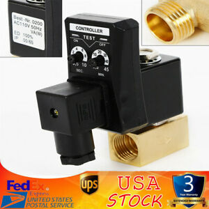 Ac 110v 1 2 2way Electronic Timed Air Compressor Gas Tank Automatic Drain Valve