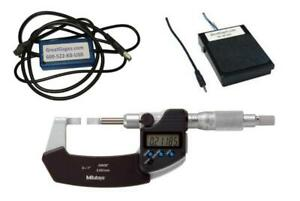 422 330 30 Mitutoyo Blade Micrometer 1 To Pc Package With Footswitch