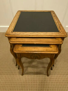 Vintage Side Nesting Tables With Chalkboard Tops