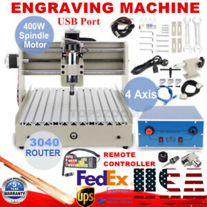 Usb 4 Axis 400w Cnc 3040t Router Engraver Drilling Milling Machine Handwheel