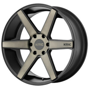 4 kmc Km704 District Truck 20x8 5 6x5 5 38mm Black tint Wheels Rims 20 Inch