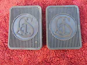 Reproduction 1927 To 1940 Cadillac Lasalle Rubber Brake And Clutch Pedal Covers