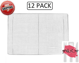 12 Pack Footed Cooling Rack For Bun sheet Pan 16 X 24 Full Size Commercial