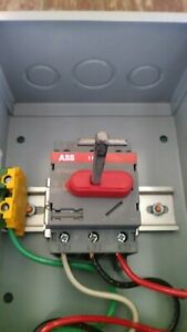 Abb Disconnect Switch Ot45e3 60a 600v 3ph With Handle And Secured Metal Box